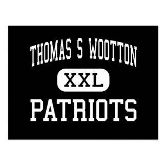 Thomas S Wootton - patriotas - alto - Rockville Tarjetas Postales