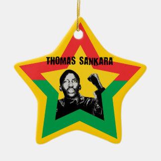 Thomas Sankara Burkina Fasso star Xmas ornamentati Christmas Tree Ornaments