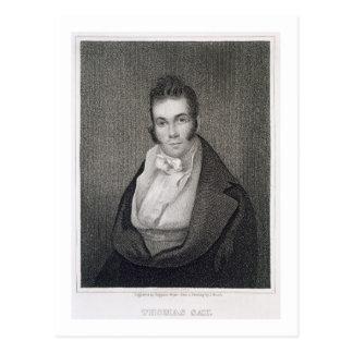 Thomas Say (1787-1834), engraved by Henry Hoppner Postcard