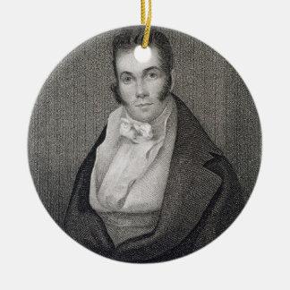 Thomas Say (1787-1834), grabado por Henry Hoppner Adorno Navideño Redondo De Cerámica