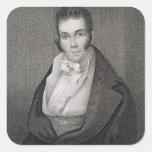 Thomas Say (1787-1834), grabado por Henry Hoppner Pegatina Cuadrada