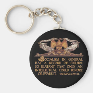 Thomas Sowell Quote on Socialism Basic Round Button Keychain