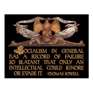 Thomas Sowell Quote on Socialism Postcard