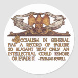 Thomas Sowell Quote on Socialism Classic Round Sticker