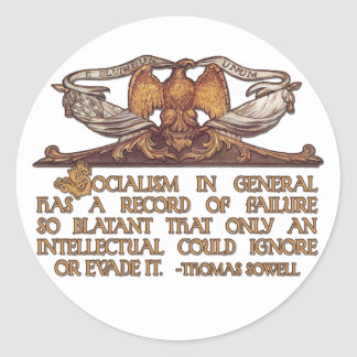 Thomas Sowell Quote on Socialism Stickers