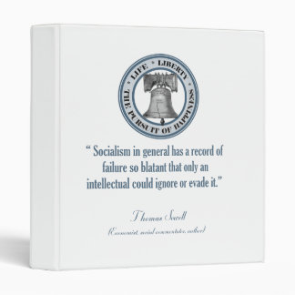 Thomas Sowell Quote (Socialism) Binder