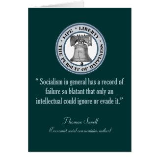 Thomas Sowell (Socialism) Card