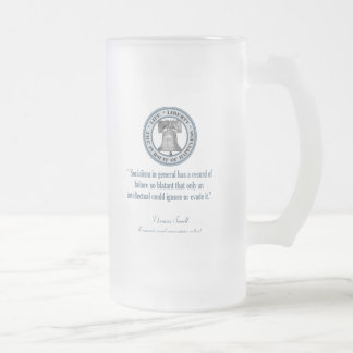 Thomas Sowell (Socialism) Frosted Glass Beer Mug