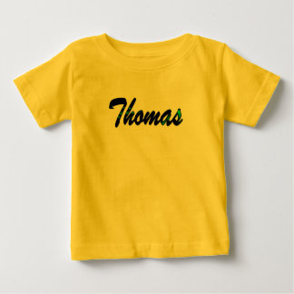 Thomas t-shirt in yellow with short sleeve