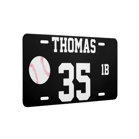 thomas template 35 baseball novelty license plate zazzle com
