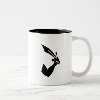 Thomas Tew-Black Two-Tone Coffee Mug
