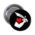 Thomas-Tew-Hearts Pinback Button