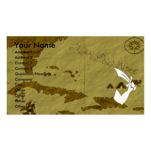 Thomas Tew Map #11 Business Card Template