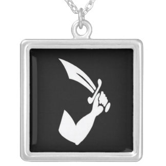 Thomas Tew-White Silver Plated Necklace