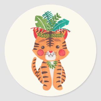 Thomas the Little Tiger Classic Round Sticker