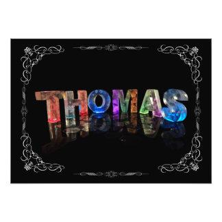 Thomas  - The Name Thomas in 3D Lights (Photograph Photo Print
