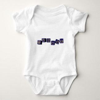 Thomas toy blocks in blue. baby bodysuit