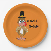 Thomas Turkey Personalized Paper Plates 9 Inch Paper Plate