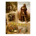 Thomas W. Keene en Macbeth de William Shakespeare Tarjeta Postal