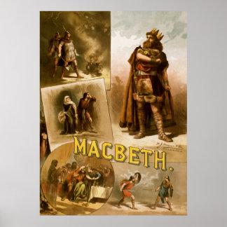 Thomas W. Keene in William Shakespeare's MacBeth Poster