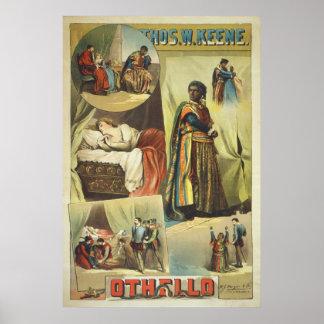 Thomas W. Keene in William Shakespeare's Othello Poster
