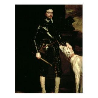 Thomas Wentworth, 1st Earl of Strafford  1633-6 Postcard
