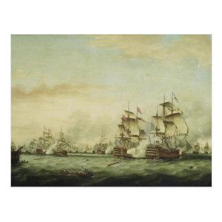 Thomas Whitcombe - The Battle of the Saints Postcard