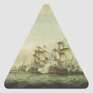 Thomas Whitcombe - The Battle of the Saints Triangle Sticker