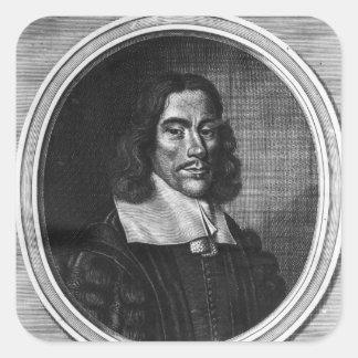 Thomas Willis, c.1675 Pegatina Cuadrada