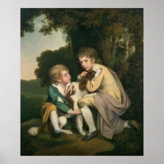 Thomas y José Pickford como niños, c.1777-9 Poster