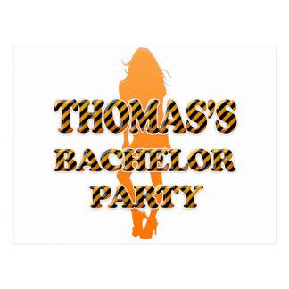 Thomas's Bachelor Party Postcard