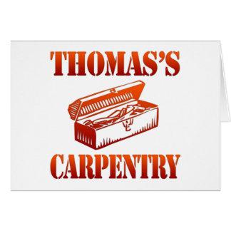 Thomas's Carpentry Card