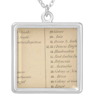 Thomas's Library Atlas 2 Square Pendant Necklace