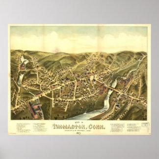 Thomaston Connecticut 1879 Panoramic Map Poster