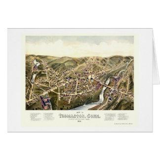 Thomaston, CT Panoramic Map - 1879 Card