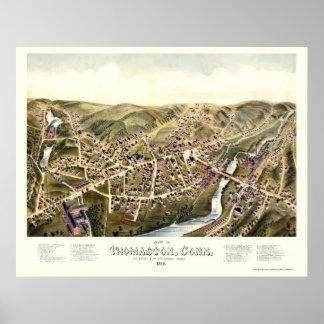 Thomaston, CT Panoramic Map - 1879 Poster