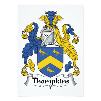 Thompkins Family Crest Custom Invites