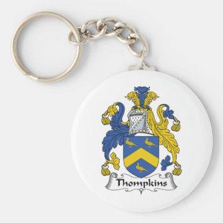 Thompkins Family Crest Keychains