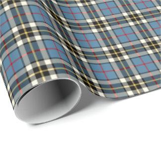 Thompson Clan Blue Formal Dress Tartan Wrapping Paper