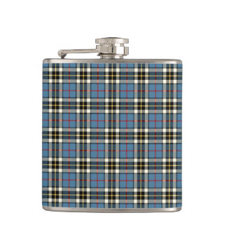Thompson Clan Light Blue Dress Tartan Hip Flask