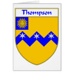 Thompson Coat of Arms/Family Crest Greeting Card