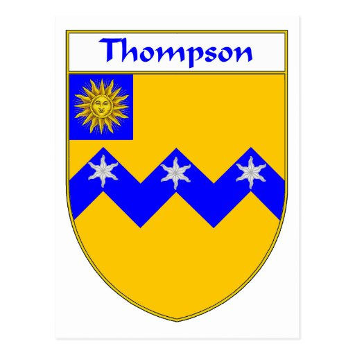 Thompson Coat of Arms/Family Crest Post Card