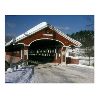 Thompson Covered Bridge, Swanzey New Hampshire Postcard