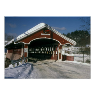 Thompson Covered Bridge Swanzey New Hampshire Poster