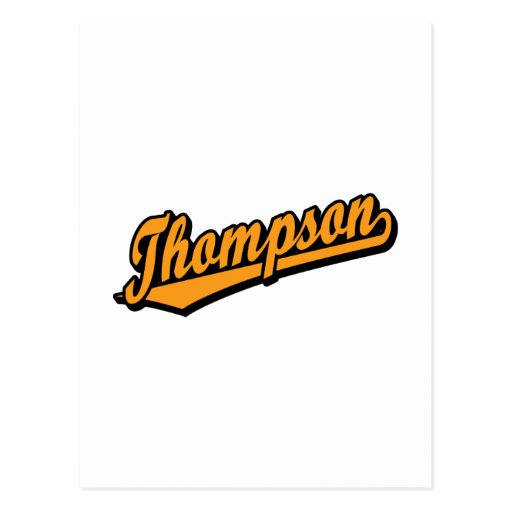 Thompson en naranja tarjetas postales