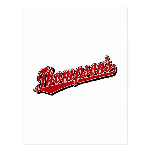 Thompson en rojo postales