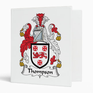 Thompson Family Crest 3 Ring Binder