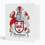 Thompson Family Crest Binder