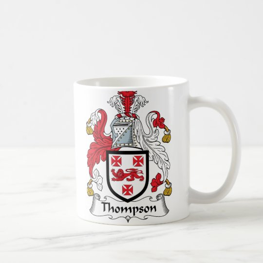 Thompson Family Crest Coffee Mug