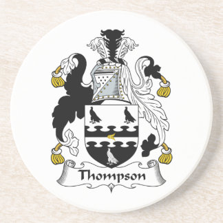Thompson Family Crest Drink Coasters